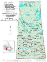 Map of Saskatchewan, Canada