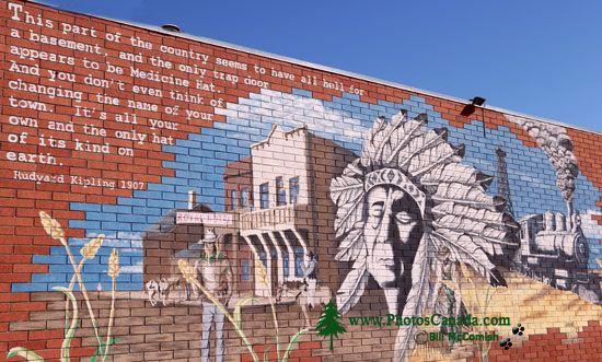 Medicine Hat, Historic Downtown Mural, Alberta, Canada CMX-005