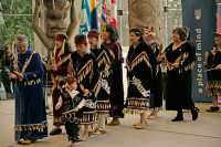Museum of Anthropology, Great Hall, First Nations Dancers, UBC, British Columbia, Canada CM11-02