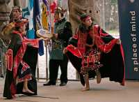 Museum of Anthropology, Great Hall, First Nations Dancers, UBC, British Columbia, Canada CM11-05