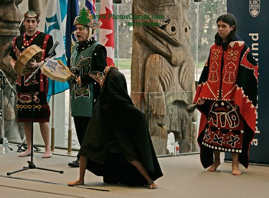 Museum of Anthropology, Great Hall, First Nations Dancers, UBC, British Columbia, Canada CM11-06