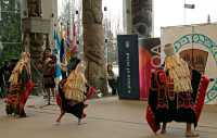 Museum of Anthropology, Great Hall, First Nations Dancers, UBC, British Columbia, Canada CM11-08