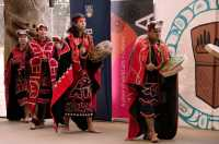 Museum of Anthropology, Great Hall, First Nations Dancers, UBC, British Columbia, Canada CM11-04