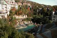 The Marriott Hotel swimming pool. September 2007.