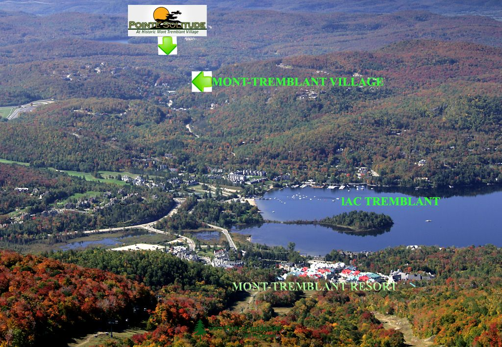 Views of Mont-Tremblant Resort and Pointe Solitude Land, located five kilometers from the resort. September 2007.