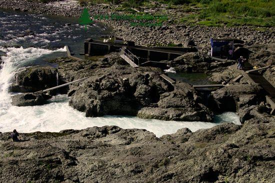 Moricetown, Bulkley River, Salmon Fishing, British Columbia, Canada CM11-002