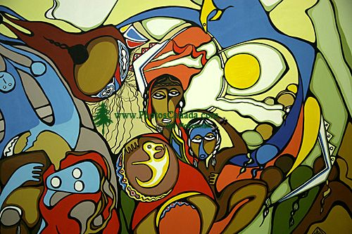 Museum of Civilization Photos, Daphne Odjig Mural, Ontario, Canada (Photo Not For Sale) CM11-17