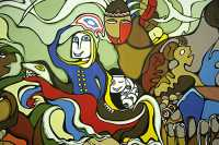 Museum of Civilization Photos, Daphne Odjig Mural, Ontario, Canada (Photo Not For Sale) CM11-18