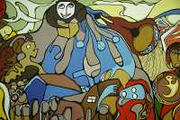 Museum of Civilization Photos, Daphne Odjig Mural, Ontario, Canada (Photo Not For Sale) CM11-15