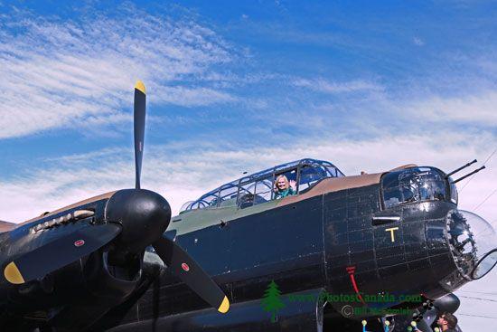 Lancaster Bomber, Bomber Command Museum of Canada, Nanton, Alberta, Canada CMX-001