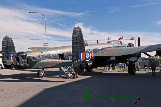 Lancaster Bomber, Bomber Command Museum of Canada, Nanton, Alberta, Canada CMX-003