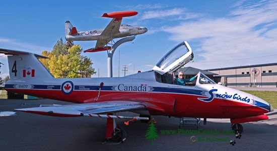 Snowbird Tutor Jet, Bomber Command Museum of Canada, Nanton, Alberta, Canada CMX-004
