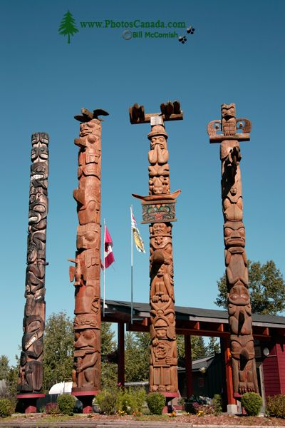 New Aiyansh Totem Poles, Nass Valley, September 2010, British Columbia, Canada CM11-08