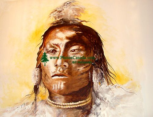 Warrior Painting 22 by artist; Monte Monrad Christoffersen (from a private collection)