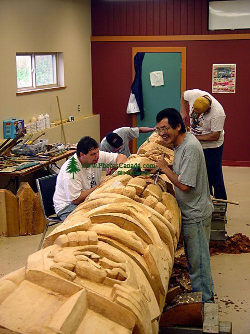 New Aiyansh, Nisga'a Nation, Totem Pole Carvers, British Columbia, Canada 11