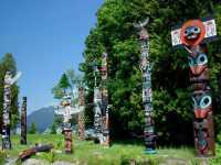 Stanley Park Totem Poles, Vancouver, British Columbia, Canada 02