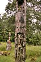 Ninstints Totem Pole, Sgang Gwaay, UNESCO World Heritage Site, Gwaii Haanas National Park Reserve, Haida Gwaii, British Columbia, Canada CM11-13