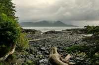 Ninstints Sheltered Bay, Sgang Gwaay, UNESCO World Heritage Site, Gwaii Haanas National Park Reserve, Haida Gwaii, British Columbia, Canada CM11-28