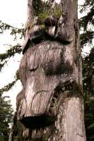Ninstints Totem Pole, Sgang Gwaay, UNESCO World Heritage Site, Gwaii Haanas National Park Reserve, Haida Gwaii, British Columbia, Canada CM11-23