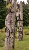 Ninstints Totem Pole, Sgang Gwaay, UNESCO World Heritage Site, Gwaii Haanas National Park Reserve, Haida Gwaii, British Columbia, Canada CM11-22