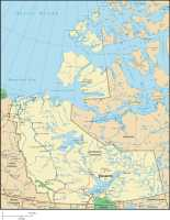 Map of Northwest Territories, Canada