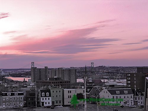 Halifax at Dusk from the Halifax Citadel National Historic Site, Nova Scotia, Canada 01