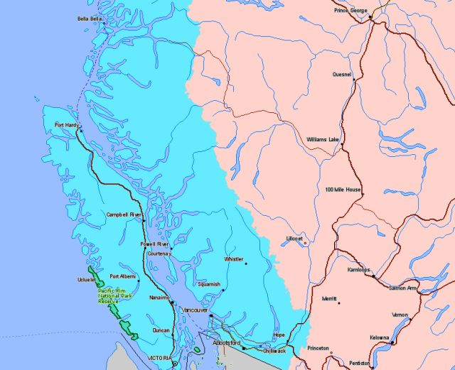 Map of Pacific Rim National Park Canada Location