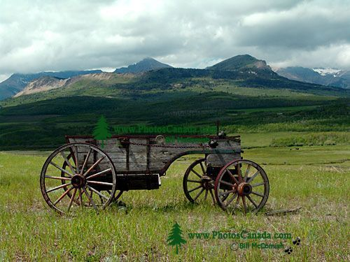 Old Farm Wagon, Pincher Creek, Alberta, Canada 02