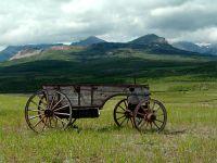 Old Farm Wagon, Pincher Creek, Alberta, Canada 02
