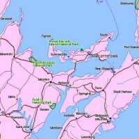 Map of Prince Edward Island National Park Location, Canada