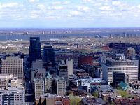 Downtown Montreal, and Champlain Bridge, Quebec, Canada 04