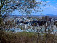 Downtown Montreal, from Mount Royal lookout, Quebec, Canada   05