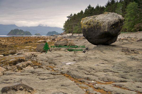 Queen Charlotte Islands Photos, Balance Rock, Haida Gwaii, British Columbia, Canada CM11-02