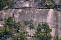 Highlight for Album: Rock Climbing, Squamish, British Columbia Stock Photos
