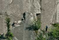 Rock Climbers, Stawamus Chief, Squamish, British Columbia, Canada CM11-04