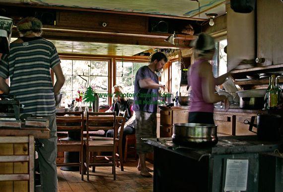 "Rose Harbour, Susan""s Amazing Kitchen (and food), Gwaii Haanas National Park Reserve, Haida Gwaii, British Columbia, Canada CM11-05"