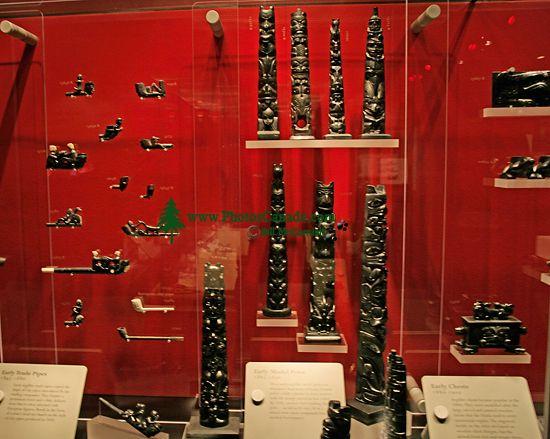 Royal BC Museum Photos, Argillite Carvings, Victoria, British Columbia, Canada CM11-09