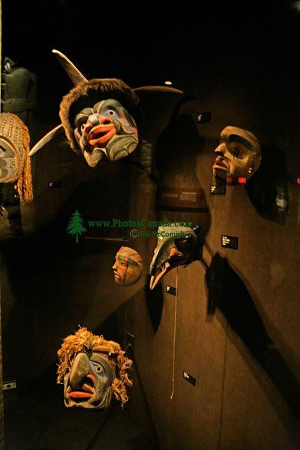 Royal BC Museum Photos, Ceremonial Masks, Victoria, British Columbia, Canada CM11-12