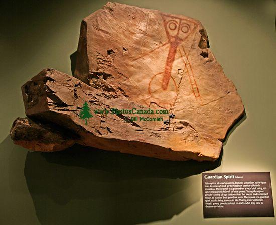 Royal BC Museum Photos, Guardian Spirit Petroglyph, Victoria, British Columbia, Canada CM11-03