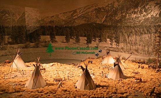 Royal BC Museum Photos, Native Tepees, Victoria, British Columbia, Canada CM11-05