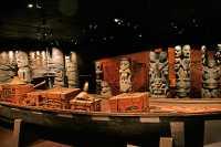 Royal BC Museum Photos, Coast Salish Canoe, Victoria, British Columbia, Canada CM11-20