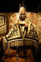 Royal BC Museum Photos, Warrior wearing Chilkat Blanket, Victoria, British Columbia, Canada CM11-18