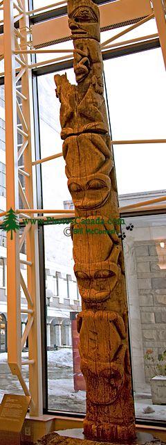 Royal BC Museum Photos, Tanu Village  Memorial Pole, Victoria, British Columbia, Canada CM11-33