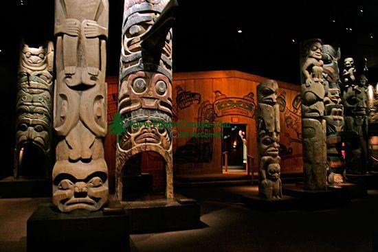 Royal BC Museum Photos, Totem Poles, Victoria, British Columbia, Canada CM11-23