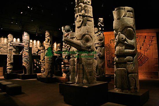 Royal BC Museum Photos, Totem Poles, Victoria, British Columbia, Canada CM11-24