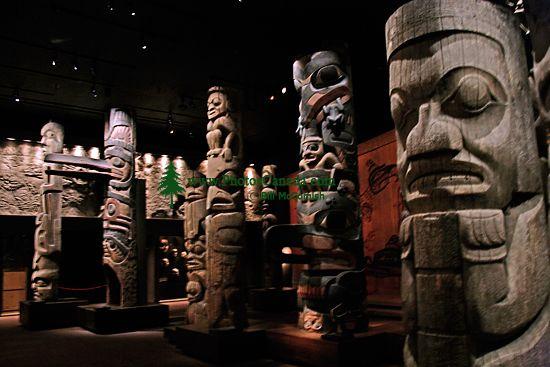 Royal BC Museum Photos, Totem Poles, Victoria, British Columbia, Canada CM11-25