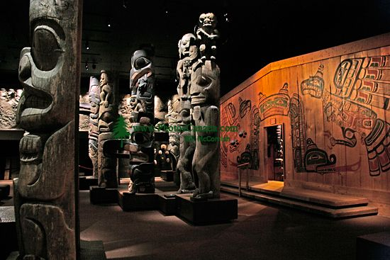 Royal BC Museum Photos, Totem Poles, Victoria, British Columbia, Canada CM11-26