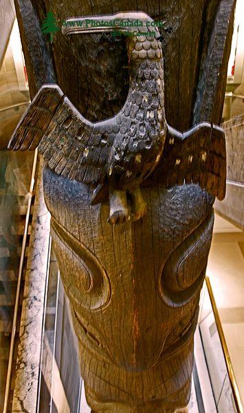Royal Ontario Museum, (ROM) Totem Poles, Main Entrance Stairs, Toronto, Ontario CM11-011