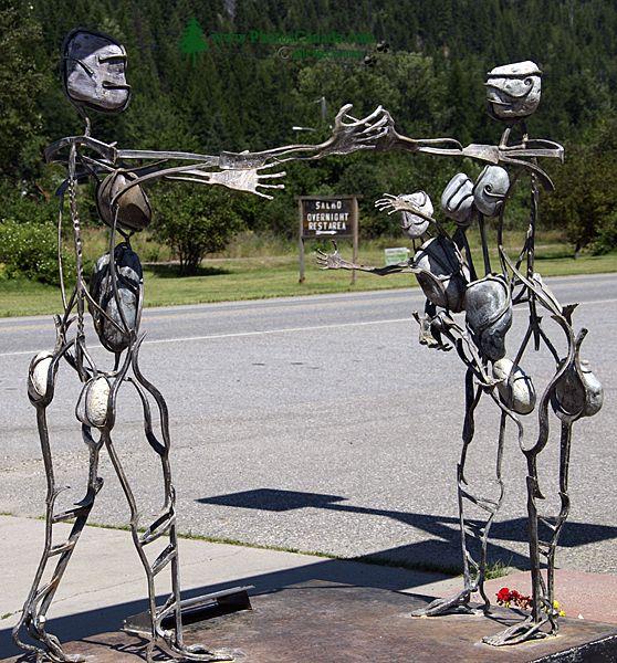 Salmo Art Sculptures,West Kootenay, British Columbia, Canada CM11-002