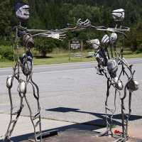 Salmo Art Sculptures,West Kootenay, British Columbia, Canada CM11-002